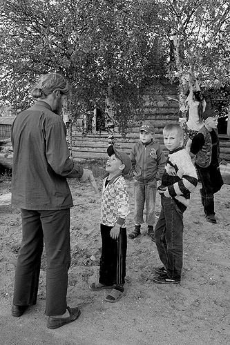 Arkadiy with children